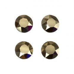 Swarovski 1088 XIRIUS Chatons Metallic Light Gold F 8mm