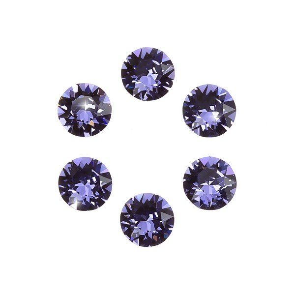 Swarovski 1088 Crystal XIRIUS Chatons Tanzanite F 6mm PK6