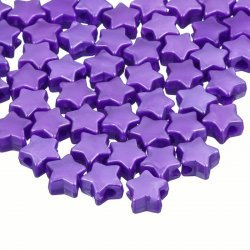 Purple Acrylic Star Shaped Pony Spacer Beads 12mm PK50