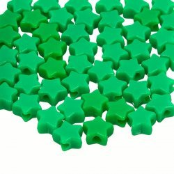 Acrylic Star Shaped Green Pony Spacer Beads 12mm PK50