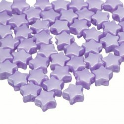 Acrylic Star Shape Pony Spacer Beads 12mm Lavender PK50