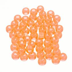 Lt Orange Large Hole Round Acrylic Pony Beads 8mm PK50