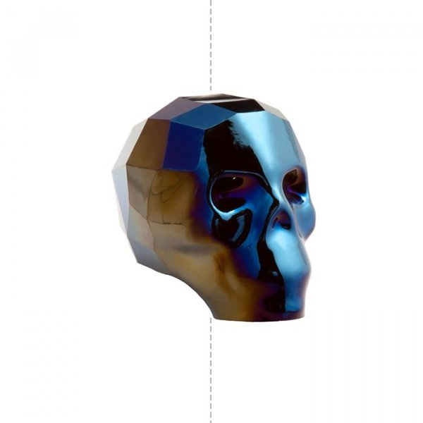 5750 Swarovski Crystal 13mm Skull Beads Metallic Blue