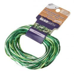 Satin Cords 1mm Kumihimo Rattail Evergreen Mix 12 yards