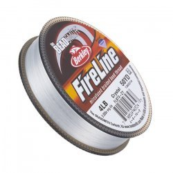 Fireline Braided Beading Thread Crystal 4LB 50yd 0.005