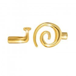 Gold Plated Kumihimo Glue In Swirl Toggle Clasp 3.2mm