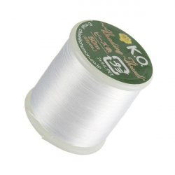 KO White Japanese Nylon Beading Thread 50m Reel