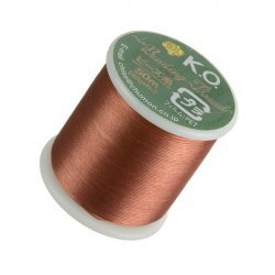 KO Apricot Japanese Nylon Beading Thread 50m Reel