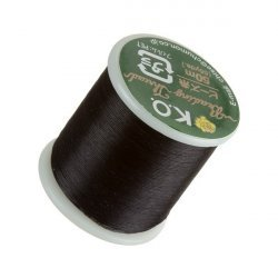 KO Black Japanese Nylon Beading Thread 50m Reel