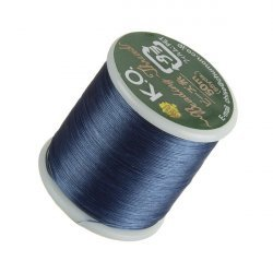 KO Denim Blue Japanese Nylon Beading Thread 50m Reel