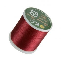 KO Rich Red Japanese Nylon Beading Thread 50m Reel