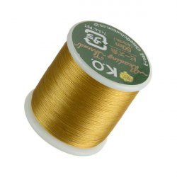 KO Gold Japanese Nylon Beading Thread 50m Reel