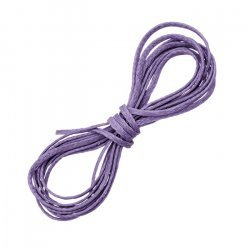 Amethyst Macrame Waxed Polyester Flat Thread/Cord 1mm