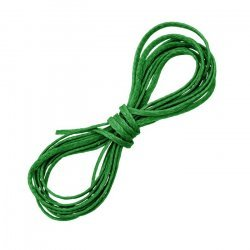 Leaf Green Waxed Polyester Flat Macramé Cord Thread 1mm
