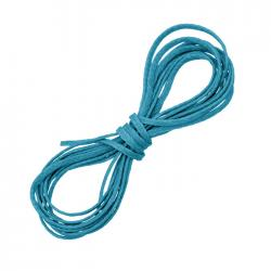 Turquoise Blue Waxed Polyester Jewellery Cord Thread 1m