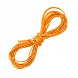 Orange Waxed Polyester Macramé Cord Jewellery Thread 1m