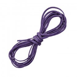 Purple Waxed Polyester Macramé Cord Jewellery Thread 1m