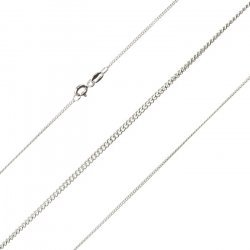 Fine Sterling Silver 925 Finished 0.30mm Curb Chain 16""
