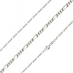 Fine Figaro Necklace Chain Sterling Silver 0.50mm 16""