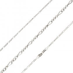 Sterling Silver Finished Figaro Necklace Chain 18""