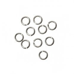 4mm Open Jump Rings 925 Sterling Silver 0.6mm Thick PK10