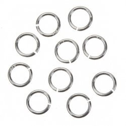 6mm Open Jump Rings 925 Sterling Silver 0.6mm Thick PK10