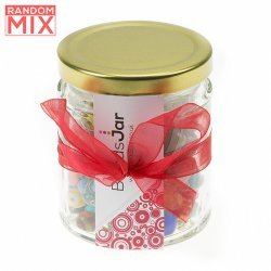 Glass Beads And Metal Bead Mixes 375g Incl. Storage Jar
