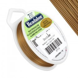 "Beadalon 7 Strand Bead Wire 0.018"" Dia. Satin Gold 30ft"