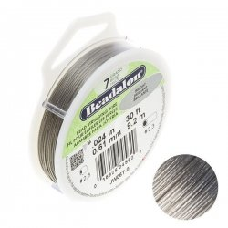 "Beadalon 7 Strand Jewellery Wire .024"" Dia. Bright 30ft"