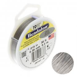 "Beadalon 19 Strand Jewellery Wire .015"" Dia Bright 30ft"