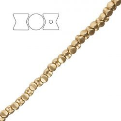 Preciosa Czech Pressed Glass Pellet Beads Matte Gold PK30