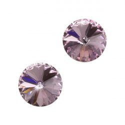 Swarovski 1122 Rivoli Crystal Light Amethyst F 12mm PK2