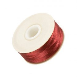Nymo Size D Nylon Bead Weaving Thread - Red 64yd