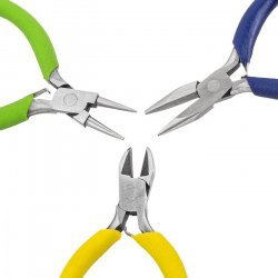 Beadsmith Colour ID 3 Piece Mini Jewellery Plier Set