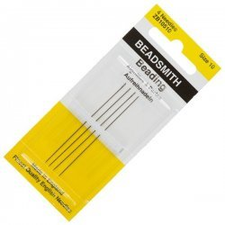Size 10 Beadsmith English Beading Needles 55mm Pack 4