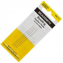 Size 12 Beadsmith English Beading Needles 51mm Pack 4