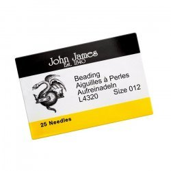 Size 12 John James Beading Needles 51mm Pack of 25