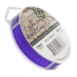 Purple Nylon Chinese Knotting Cord 0.8mm 15m Length