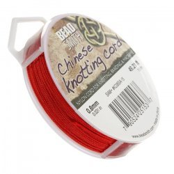 Red Siam Nylon Chinese Knotting Cord 0.8mm 15m Length