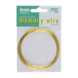 "Memory Wire Gold Plated 2.5"" Dia. Bracelet 12 Turns"