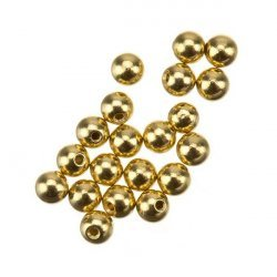Memory Wire Round Gold Plated Bead End Caps 3mm PK20