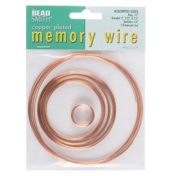 Beadsmith Memory Wire Copper Plated 10 Loops 5 Sizes