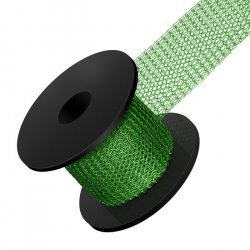 Emerald Knitted 0.1mm Copper Wire Mesh 15mm Wide 1m Reel