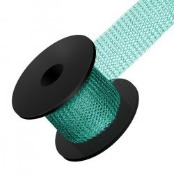 Knitted 0.1mm Copper Wire Mesh 15mm Teal 1 Metre Reel