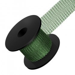 Knitted 0.1mm Copper Wire Mesh 15mm Leaf Green 1m Reel