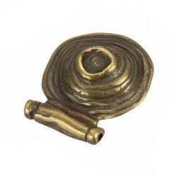 Antique Brass Cone Round Charm Pendants 30x35mm PK1
