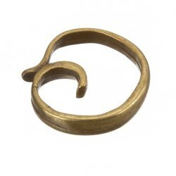 Large Antique Gold Swirl Drop Link Connector 33mm PK1