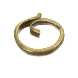 Antique Gold Small Round Swirl Component Connector 20mm PK1