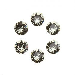Swarovski 1088 Crystal Chatons Black Diamond F 6mm PK6