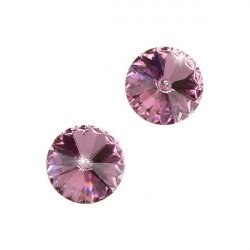 Swarovski 1122 Rivoli Crystals Light Rose F 10.7mm PK2